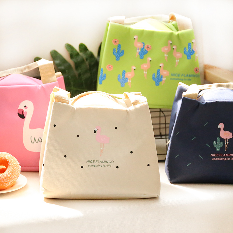 Portable Lunch Bag Thermal Insulated Snack Box Carry Tote Storage Bag Travel Picnic Food Pouch