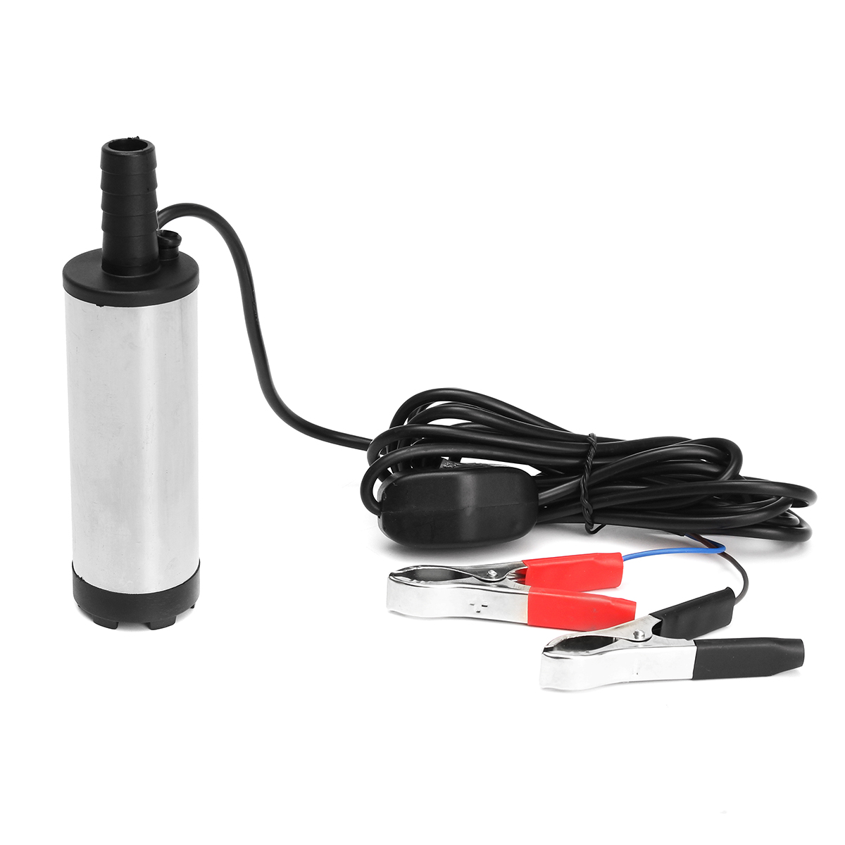 24V 38mm 8700r / min Stainless Steel Silver Electric Submersible Pump Water Diesel