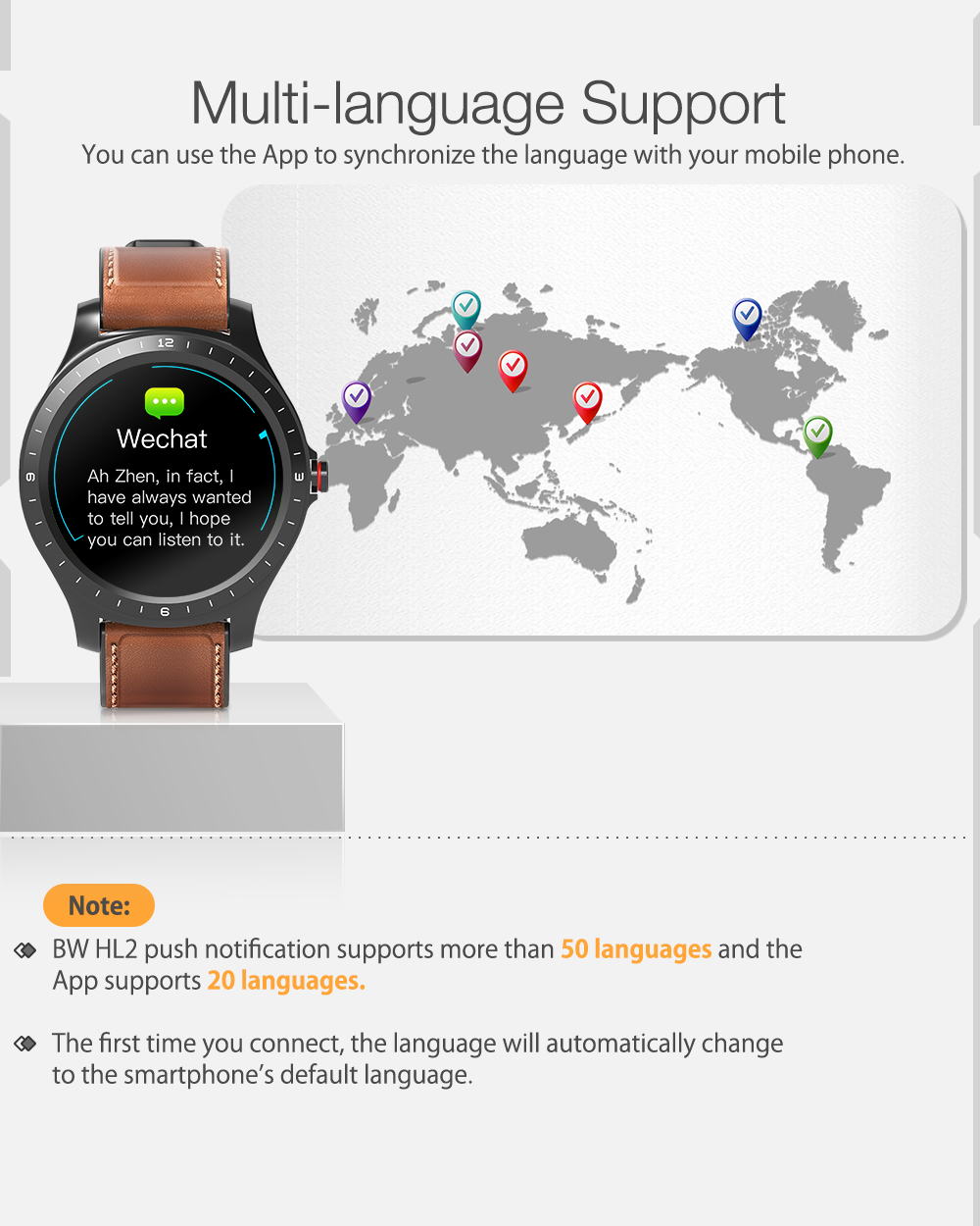 BlitzWolf® BW-HL2 Full-round Touch Screen Heart Rate Blood Pressure Oxygen Monitor Health Care Brightness Control BTV5.0 Smart Watch