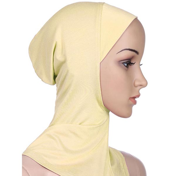 Women Muslim Cotton Breathable Hijab Islamic Scarf Full Cover Solid Colors Headscarf