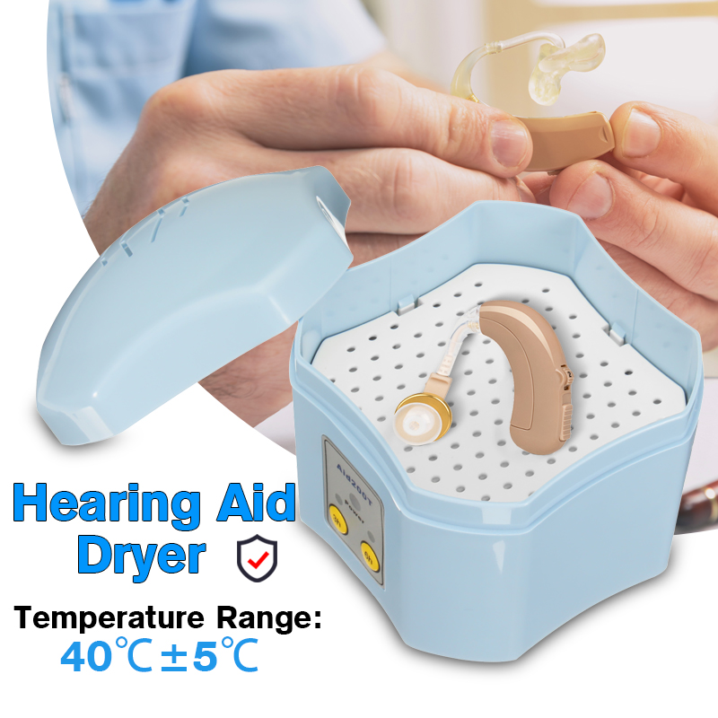 Hearing Aid Dryer Drying Case Box w/ 3/6 Hour Timer Moisture Proof Air Dehumidifier