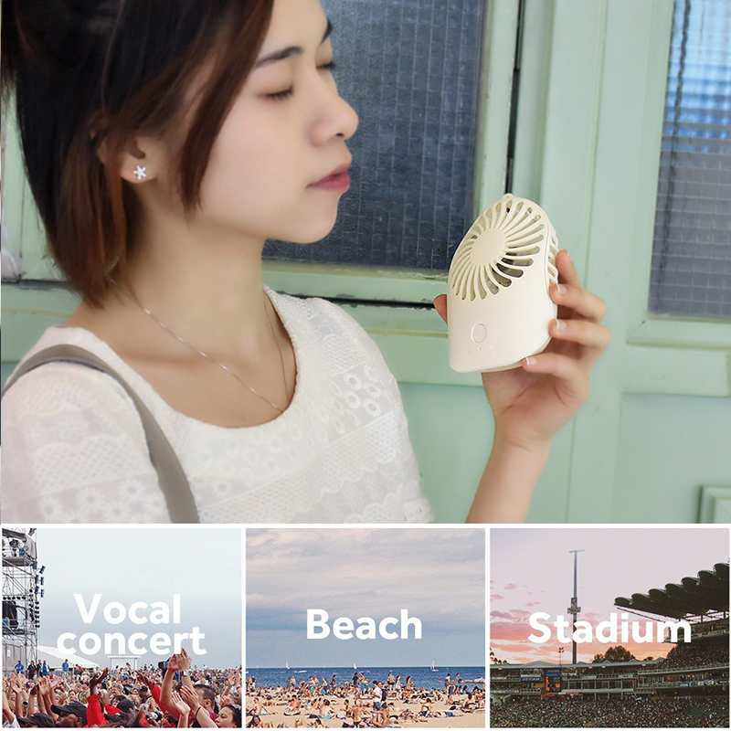 Rechargeable Mini Portable USB Fan With 3 Adjustable Wind Speed Super Mute Handheld USB Fan