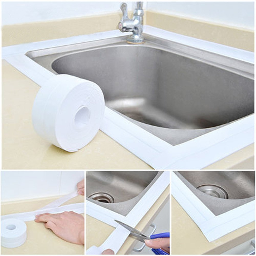 Honana Kitchen Bathroom Wall Seal Ring Tape Waterproof Tape Mold Proof Adhesive Tape