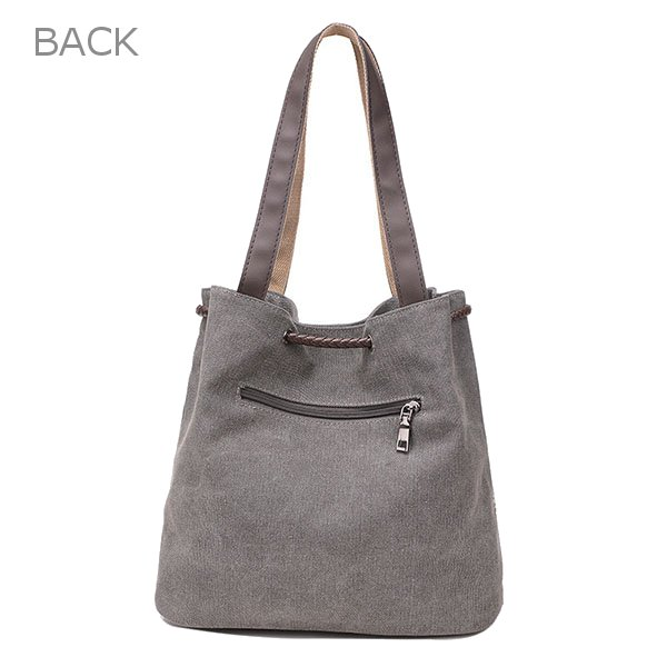 Women Canvas Drawstring Tote Bags Casual Lace Printing Shoulder Bags Large Capcity Shopping Bags