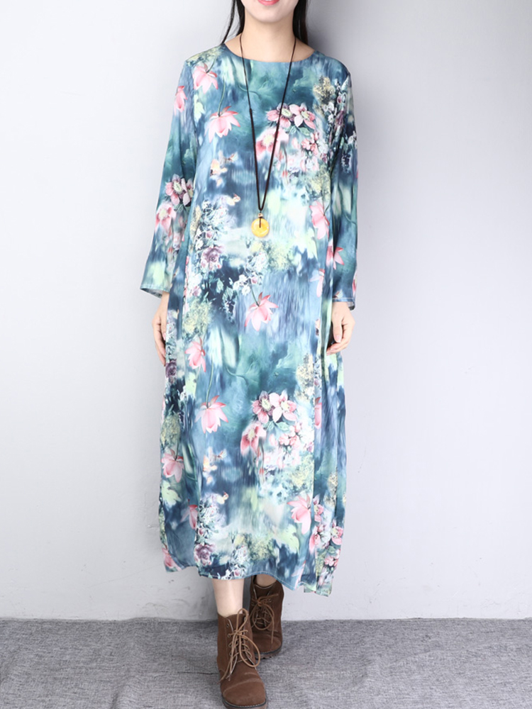 Floral Printed Side Pocket Dress