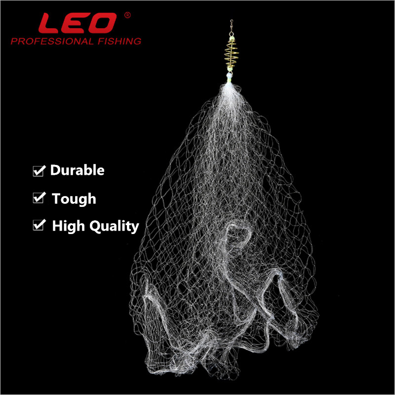 LEO OVERLOAD 25-62mm Iron And Nylon Fishing Dip Net Without Hook Safe Fishing Net Tackle