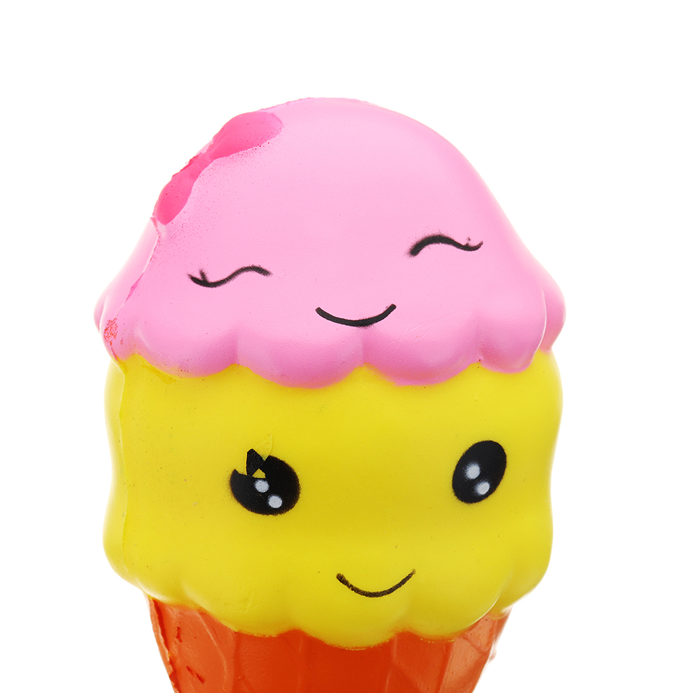 Smile Ice Cream Squishy 16*7.5CMSlow Rising With Packaging Collection Gift Soft Toy