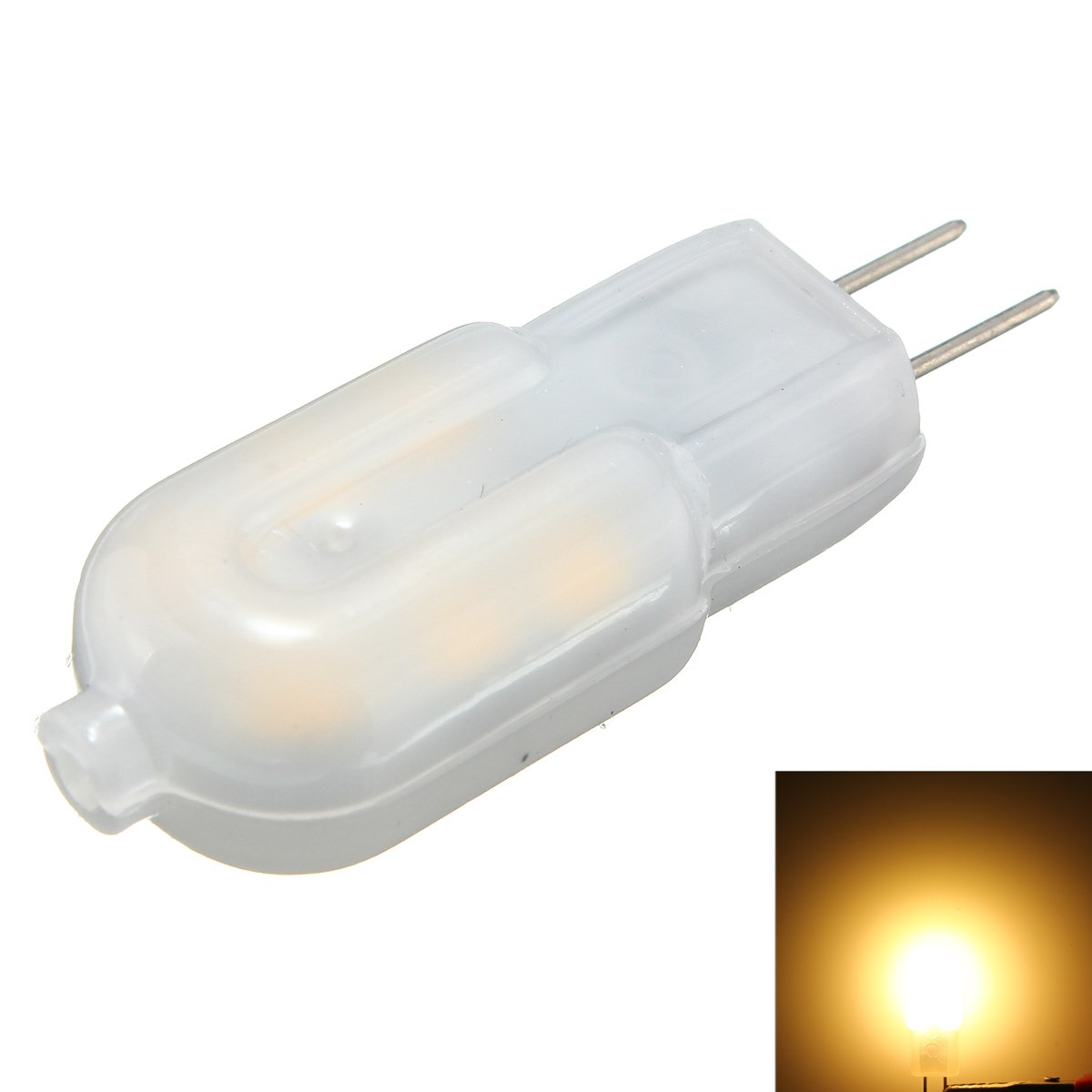 5PCS G4 2W Non-dimmable SMD2835 Warm White LED Light Bulb for Indoor Home Decor DC12V