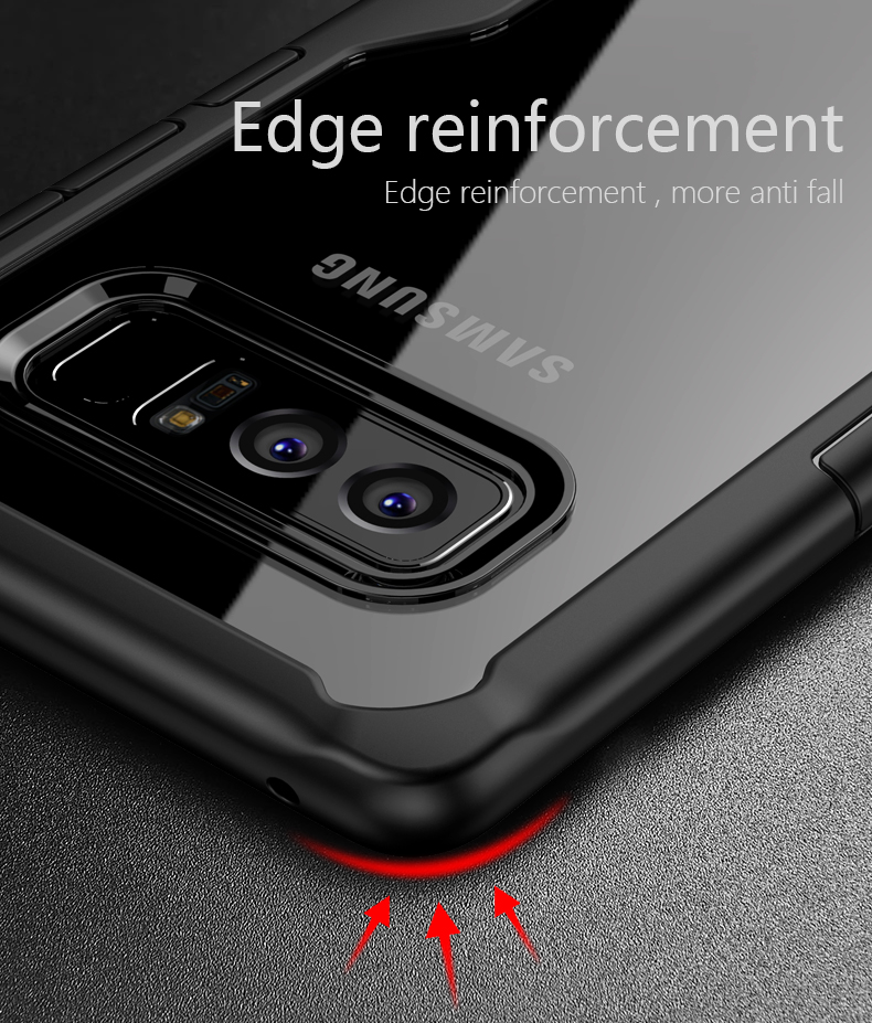 Bakeey™ Transparent Anti Fingerprint Acrylic Soft Silicone Case for Samsung Galaxy Note 8