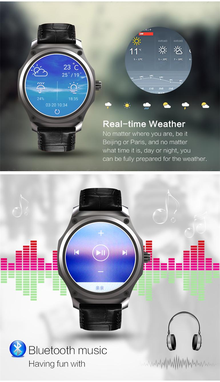 Y5 AMOLED 3G WiFi GPS SIM bluetooth Music Heart Rate Monitor Smart Watch