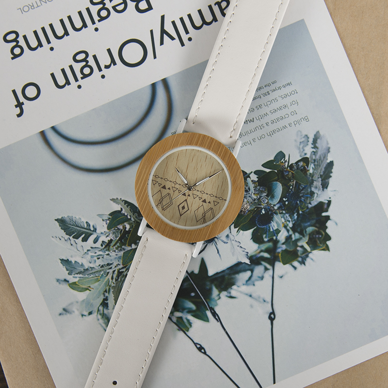 BOBO BIRD E24*W Unique Design Leather Strap Quartz Watches