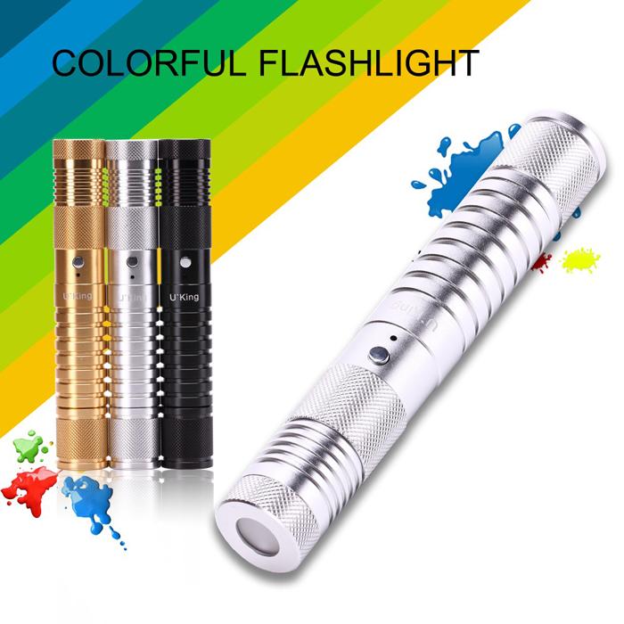U KING ZQ-J34 650/450nm Red/Blue Two colors Laser Pointer Flashlight 1mw Laser Pen