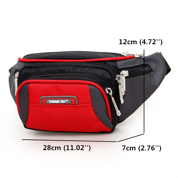 Women Multi Pockets Sports Waist Bags Men Waterproof Running Crossbody Bags