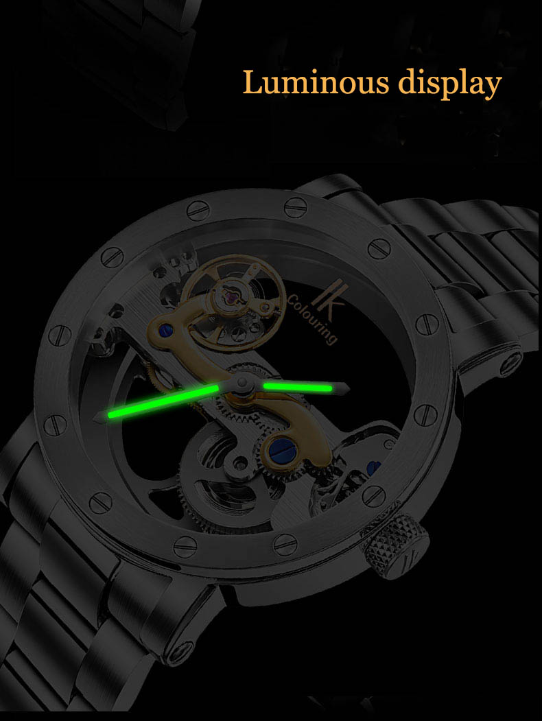 IK COLOURING 98393 Male Wristwatch Business Style Automatic Mechanical Watches