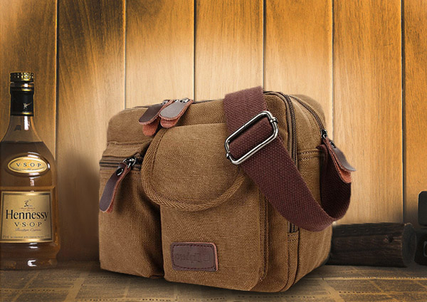 Ekphero® Multifunction Versatile Canvas Microfibric Leather Messenger Bag Ipad Crossbody Bag