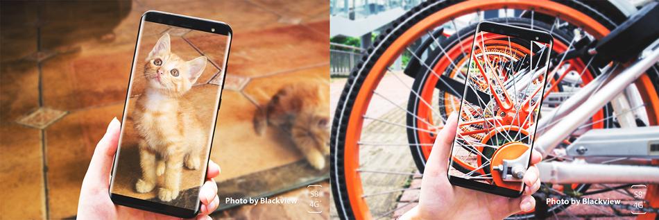Blackview S8 5.7 Inch 18:9 Quad Cameras 4GB RAM 64GB ROM MT6750T 1.5GHz 4G Smartphone