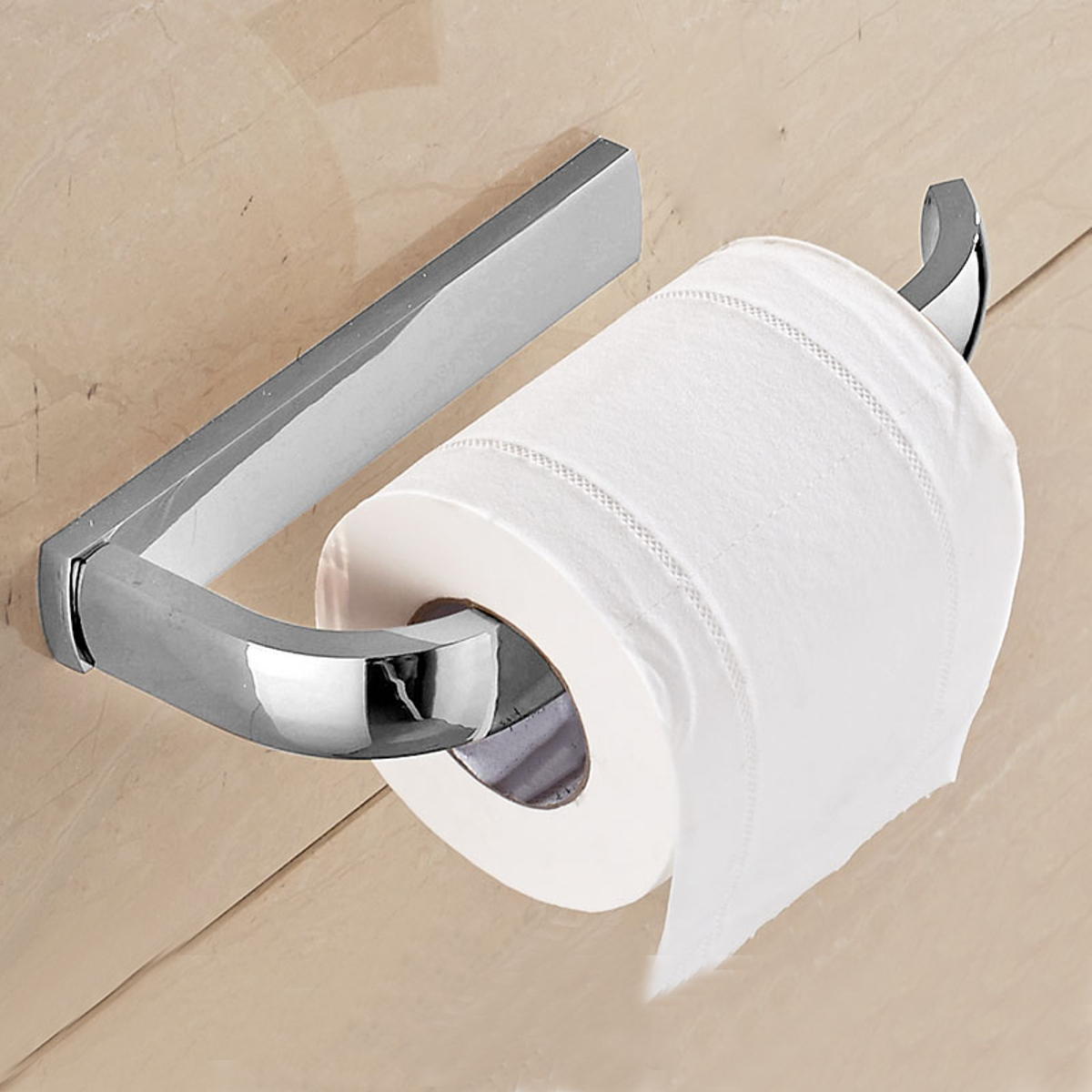 Brass Wall Mounted Bathroom Toilet Paper Holder Rack Tissue Roll Stand Hook