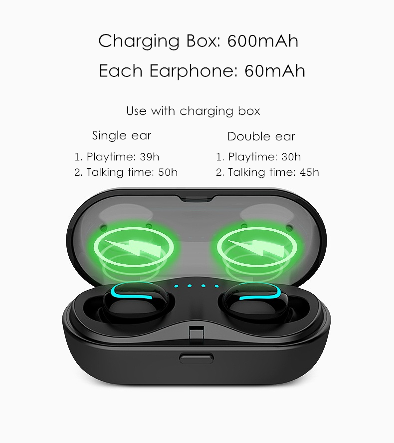 [True Wireless] Losense Q13 TWS Dual bluetooth Earphone Stereo Bass Headphone with Charging Box