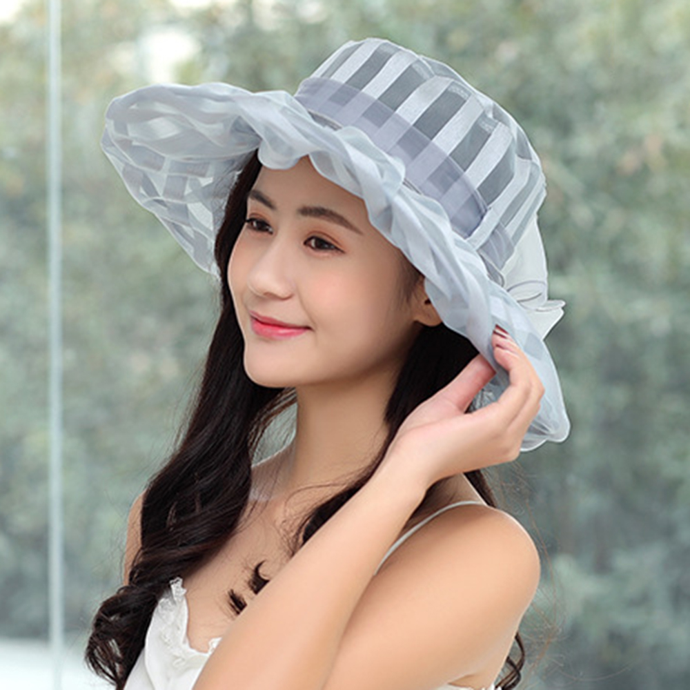 Wide Brim Bucket Hat UV Protection Beach Visor Sun Cap