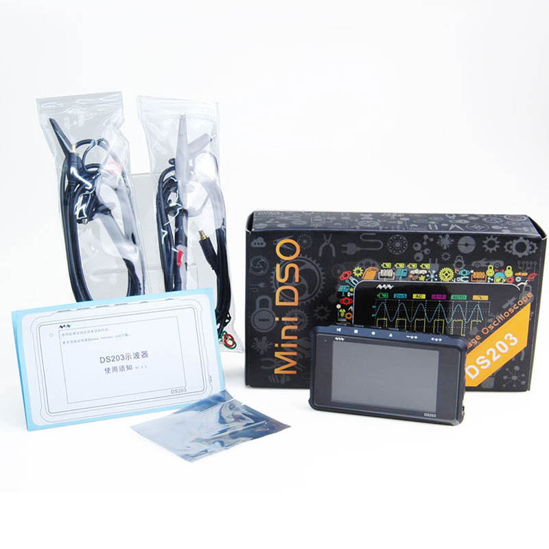 MINI Nano DSO203 DS203 Professional Digital Oscilloscope 4 Channel 72MS/s