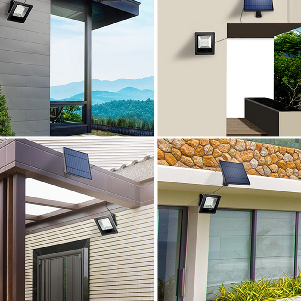 Solar Power 30 White LED Lght-controlled Flood Wall Light Waterproof Outdoor Garden Security Lamp