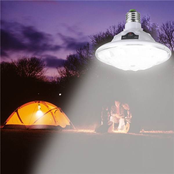 E27 Solar/Battery Powered 22LED Remote Control Camping Light Outdoor Hooking Emergency Lamp