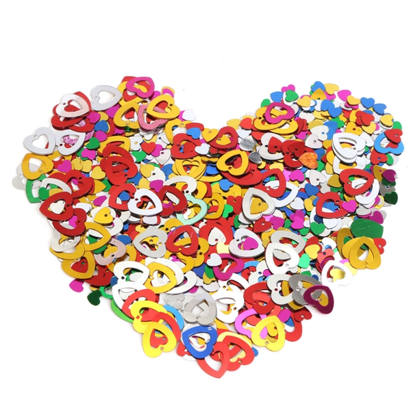 15g One Pack Wedding Mixed Heart-shape Table Confetti Party Decoration