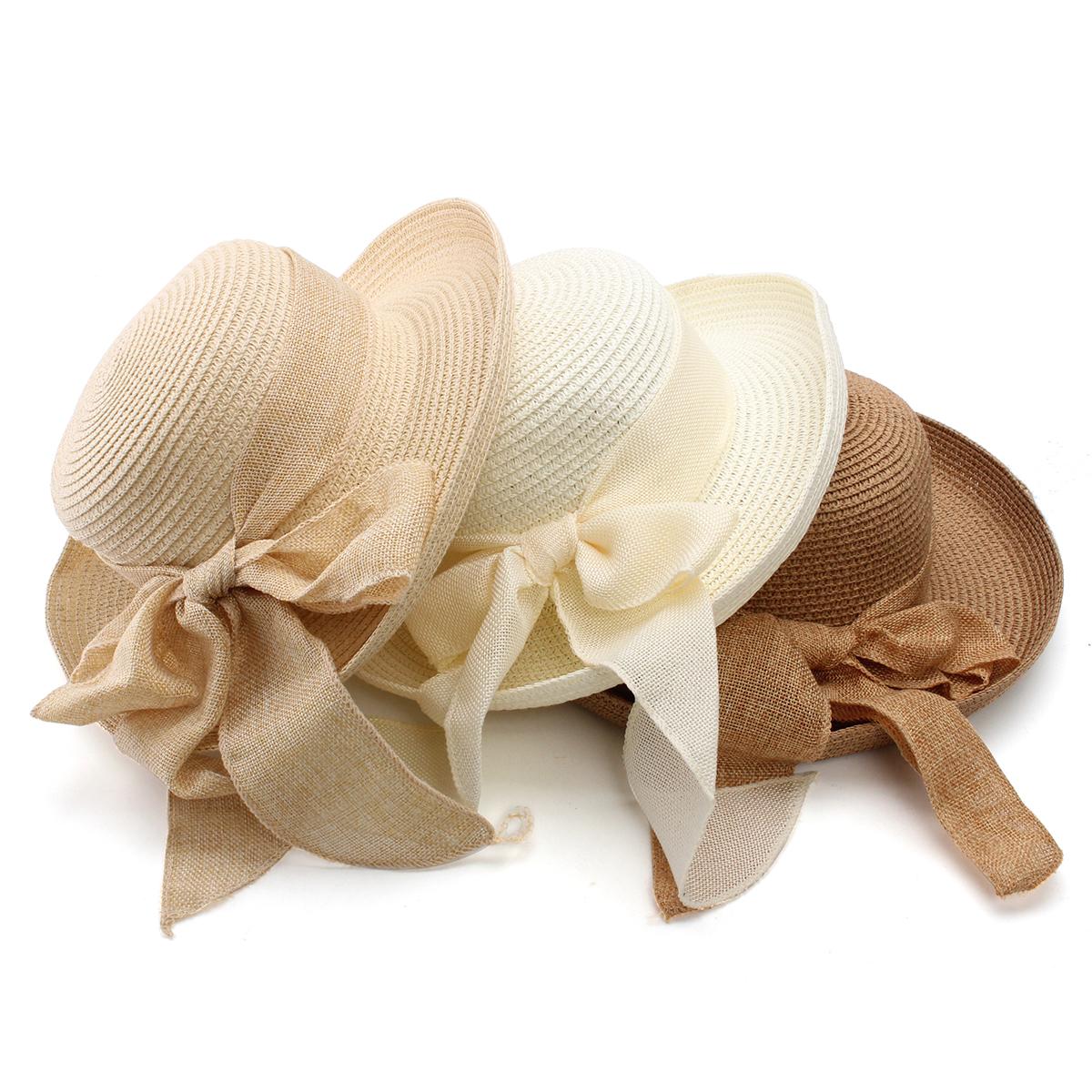 Women Ladies Beach Floppy Derby Fedora Hat