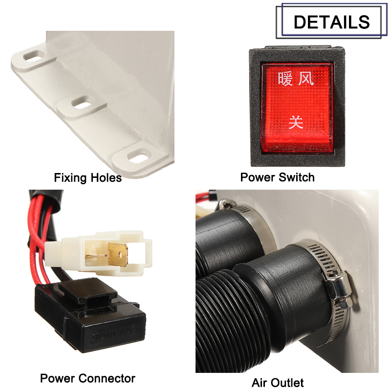 48V 64V 400W Electric Warm Air Heater Defrosting Device Parking Air Heater