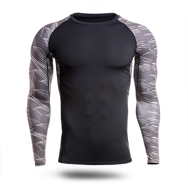 Mens Fitness Tight Quick Drying Sport Long Sleeve T-shirt Training Running Tops