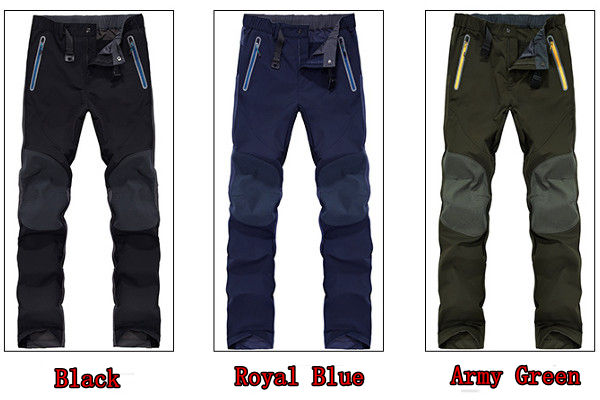 Outdoor Soft Shell Pants Male Waterproof Windproof Elastic Sports Hiking Climbing Trousers