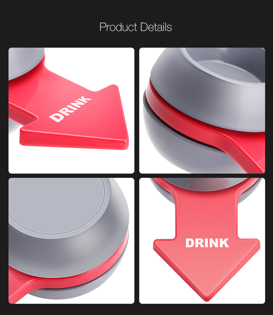 KCASA KC-DKA1 Original Spin The Shot Party Drinking Game Bars Fine Wine Props Funny Game