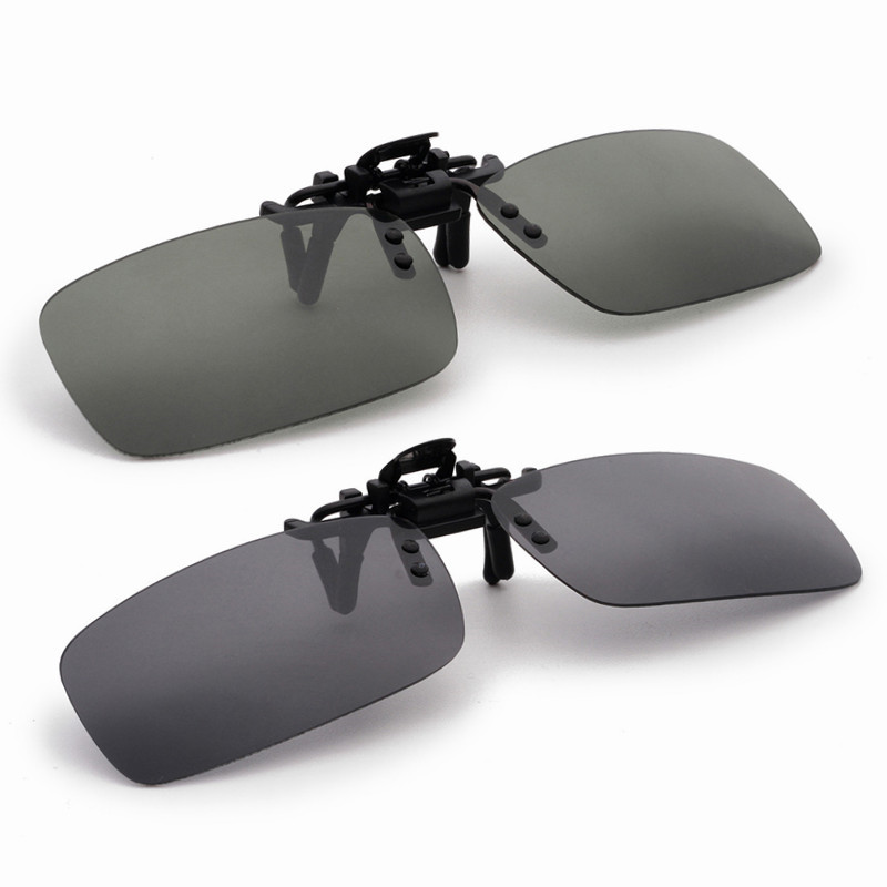 27dc956172 Night Vision Glasses Polarized Driving Fishing Clip on Sun Glassess For  Metal Frame