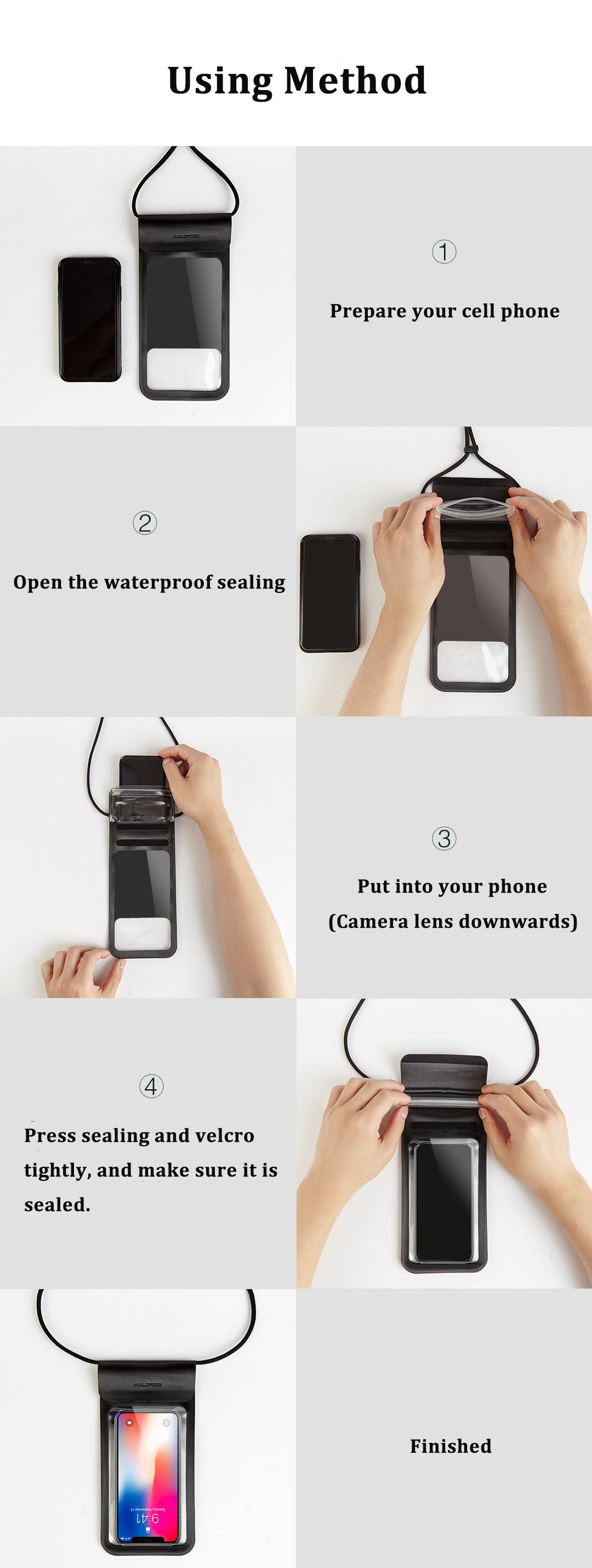 Xiaomi Guildford 6 Inch IP67 Waterproof Cell Phone Case Holder Smartphone Bag Touch Screen For iPhoneX 6 6S 7 8 Plus