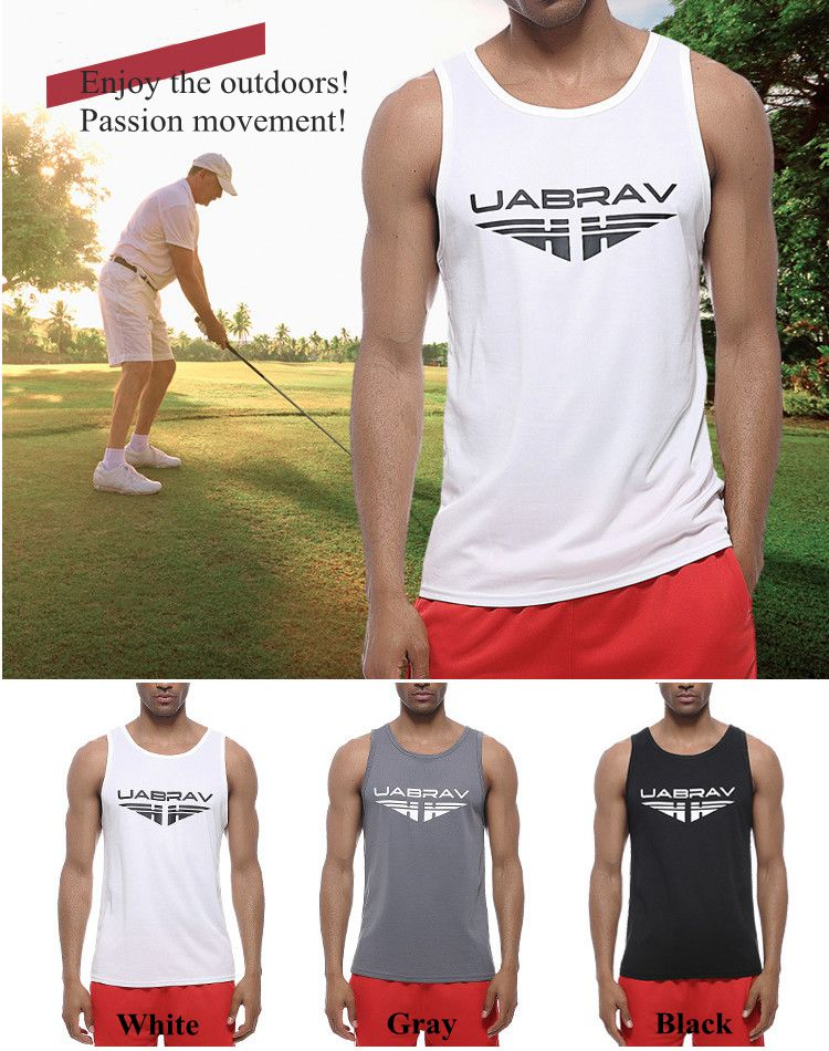 Men's Quick Drying Breathable Jogging Fitness Vest Sport Running Training Tank Tops