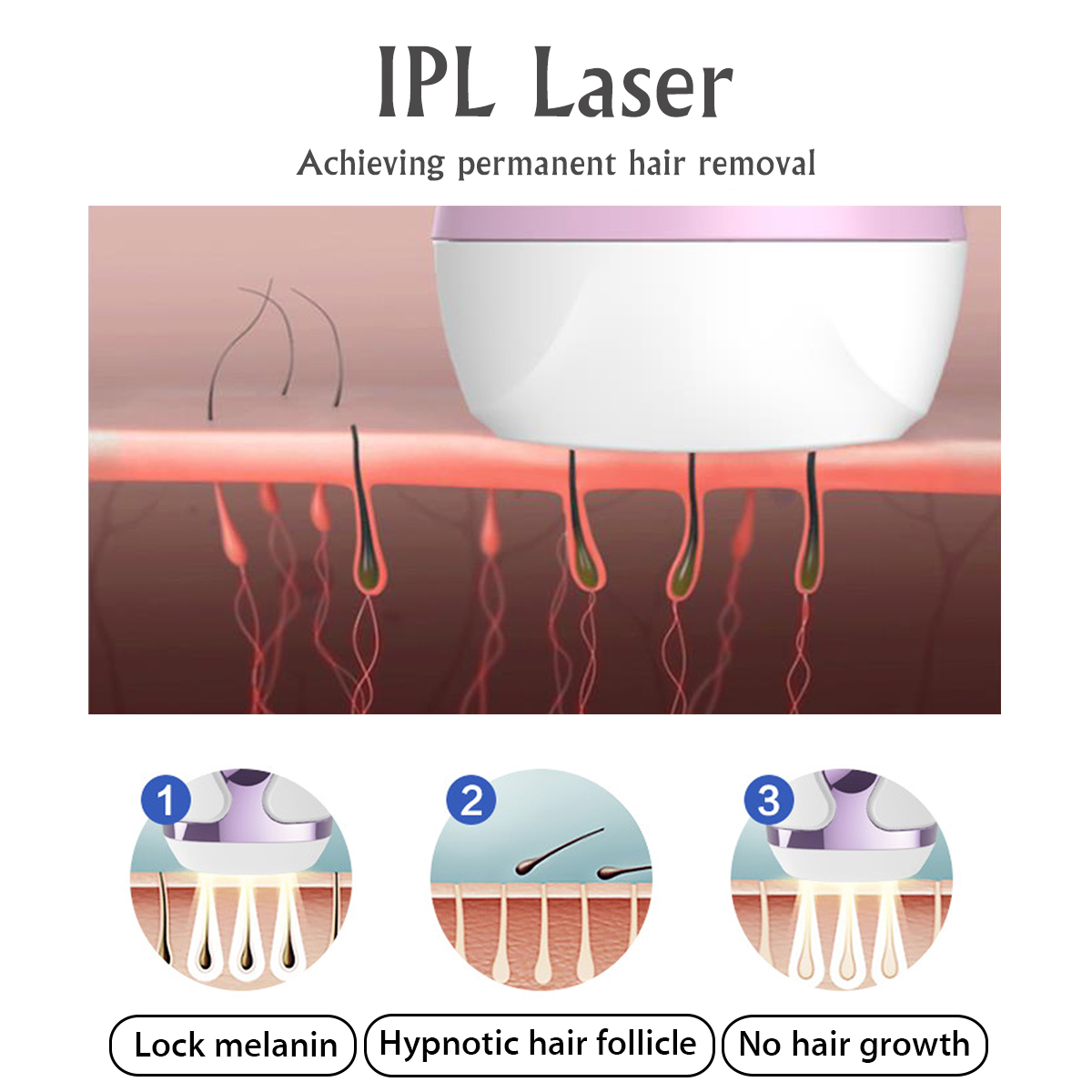 IPL Laser Permanent Hair Removal Painless Epilator Face Body