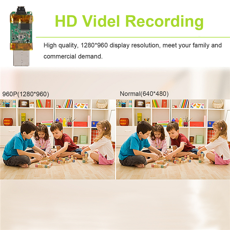 960P Mini HD Micro Pinhole Nanny Camera DVR Video Audio Home Security System USB Camera