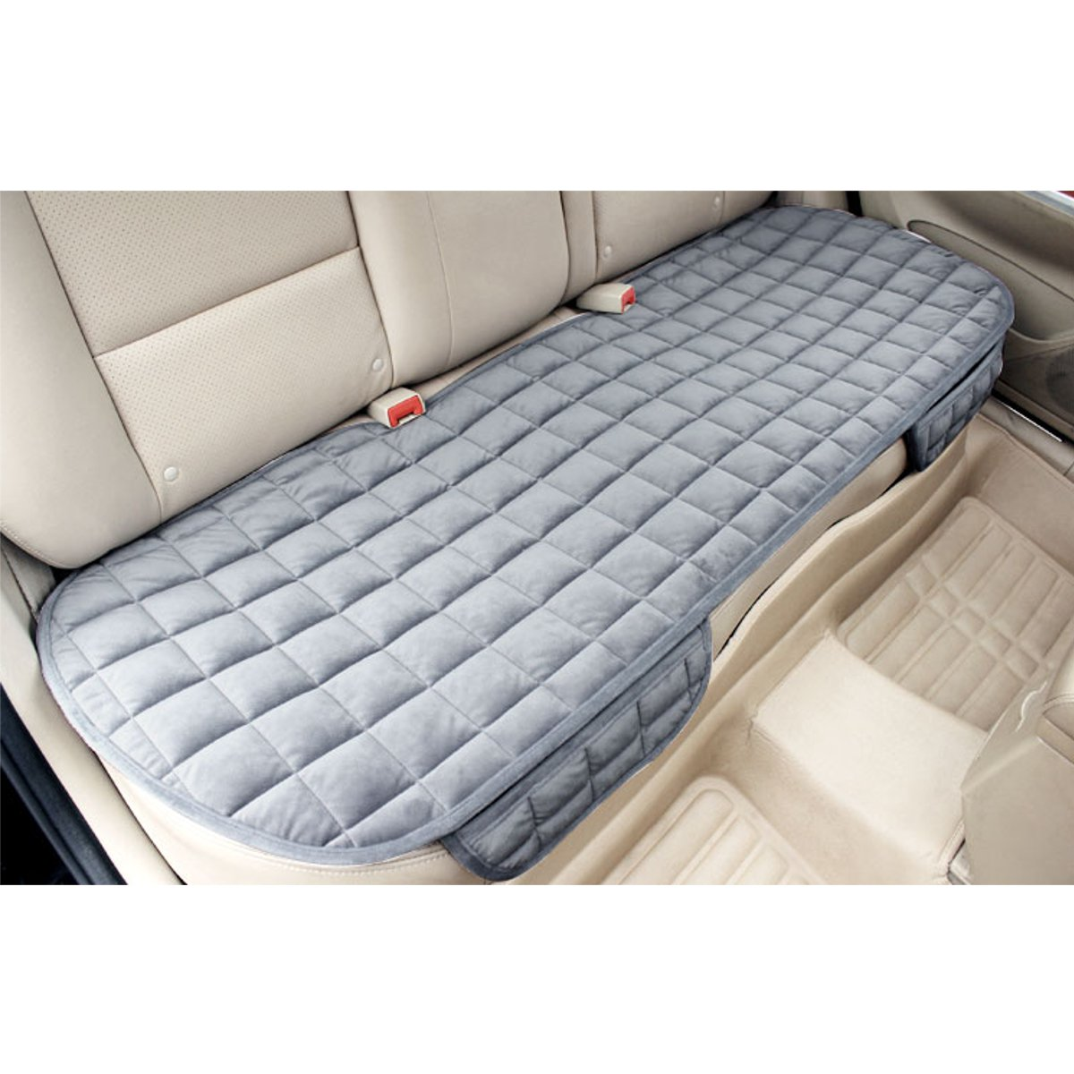 Universal Square Wistiti Sponge Rear Back Row Car Seat Cover Protector Mat Auto Chair Cushion