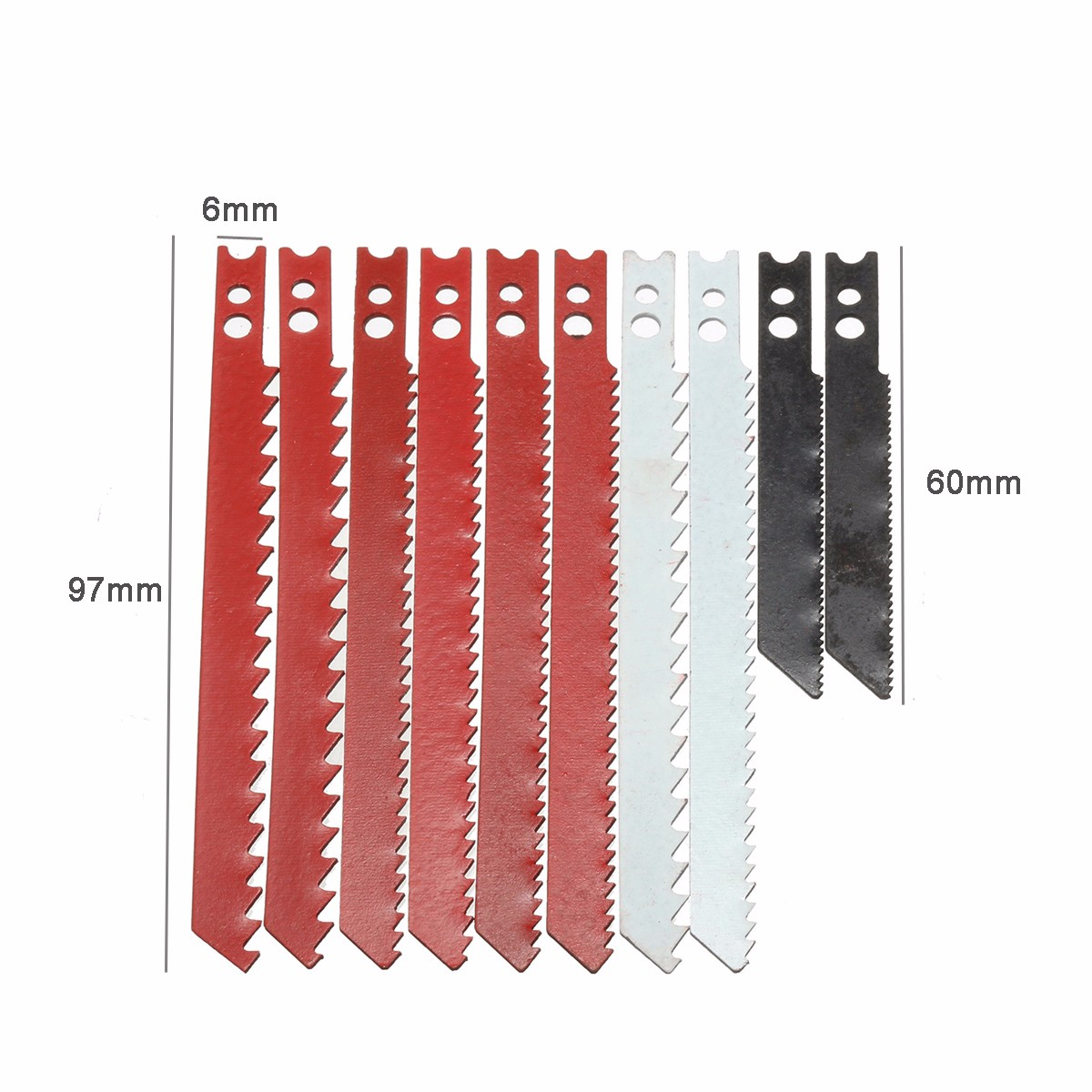 10pcs Saw Blade Set for Black & Decker Jigsaw Metal Plastic Wood Blades