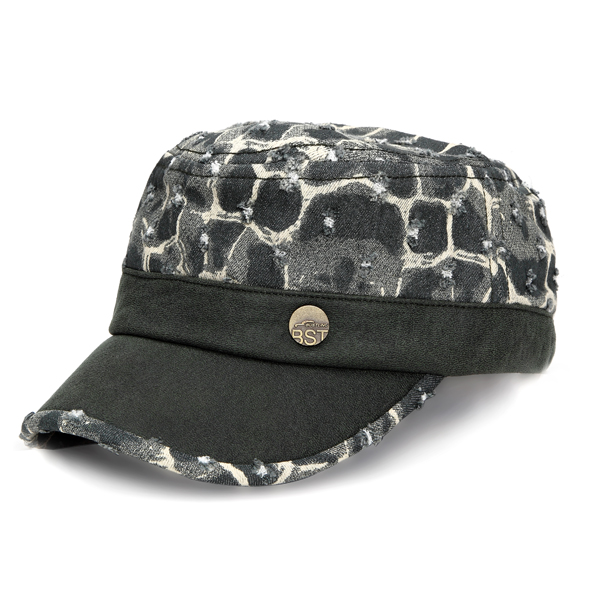 Mens Women Vintage Military Army Flat Cadet Solid Washed Cap Denim Sunshade Hats