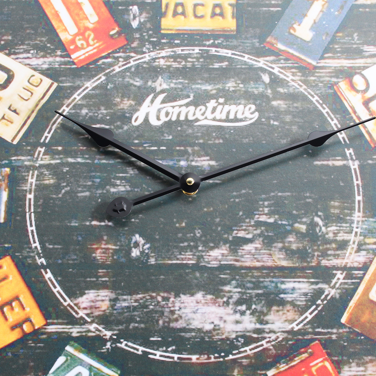 58cm Quartz Wall Clock Compressed Wood Ancient Art Modern Non-fading Lacquer Surface For Home Decor