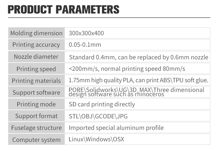 DIY A+3D Printer Kit 300*3000*400mm Printing Size Support Power Failure Resume/Filament Run-out Detection/SD card&USB Connection
