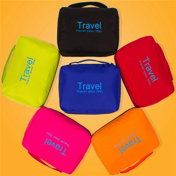 6 Colors Waterproof Travel Cosmetic Bag Portable Makeup Pouch Organizer