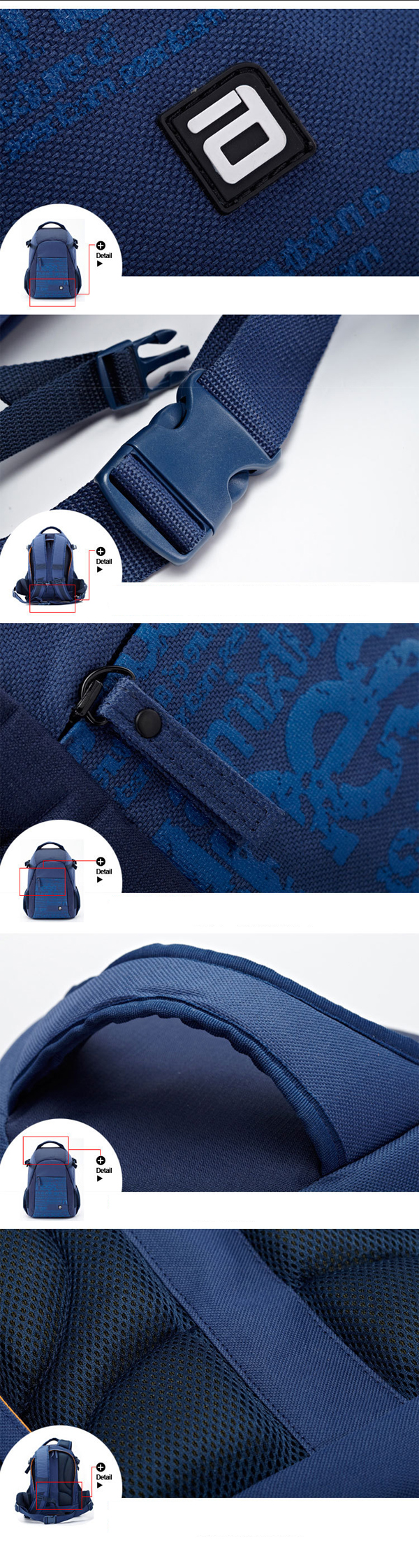 Camera Backpack Video Padded Backpack Camera Bag with Rain Cover for Nikon C anon