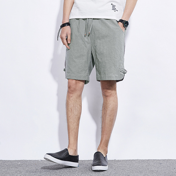 Summer Men's Casual Loose Shorts Fashion Sports Cotton Linen Shorts Pants