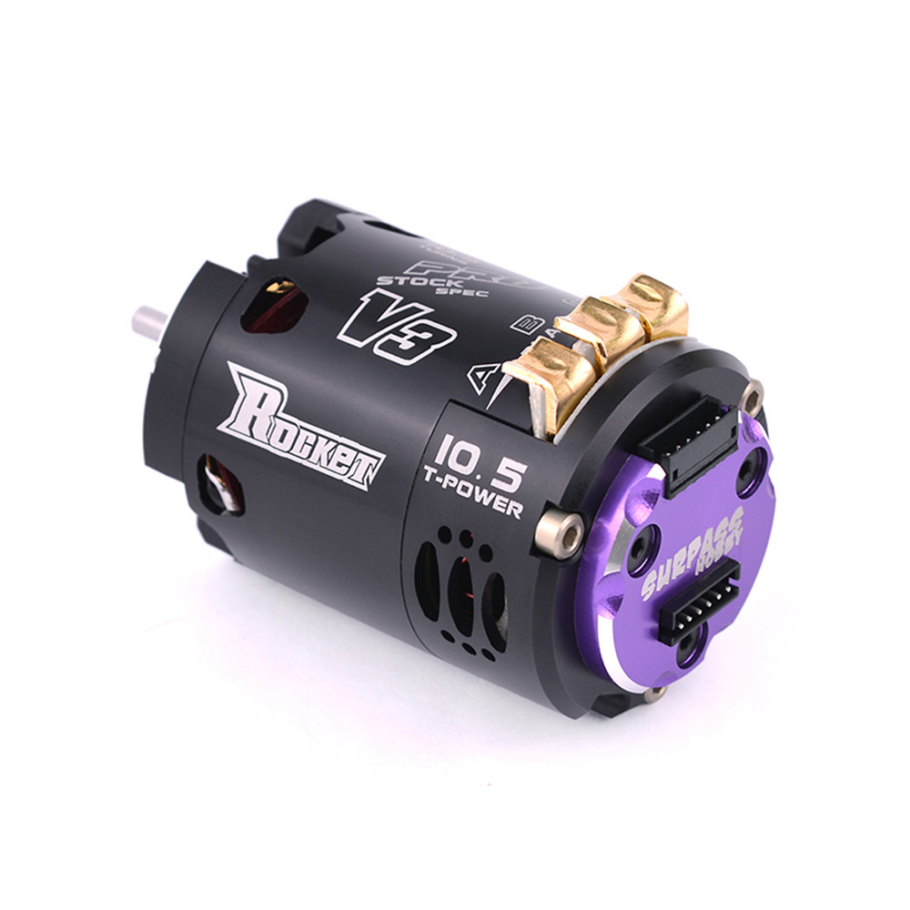 Rocket 540 V3 10.5T Sensored Brushless 7.2 Spec Competition RC Car Motor With Two Way Inductive - Photo: 4
