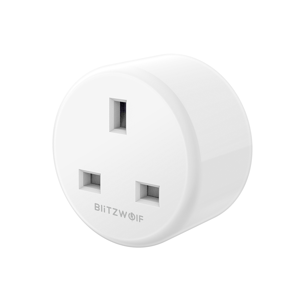 Image of BlitzWolf® BW-SHP4 UK Stecker WIFI Smart Steckdose 220V-240V 10A Arbeiten Sie mit Amazon Alexa Google Assistant