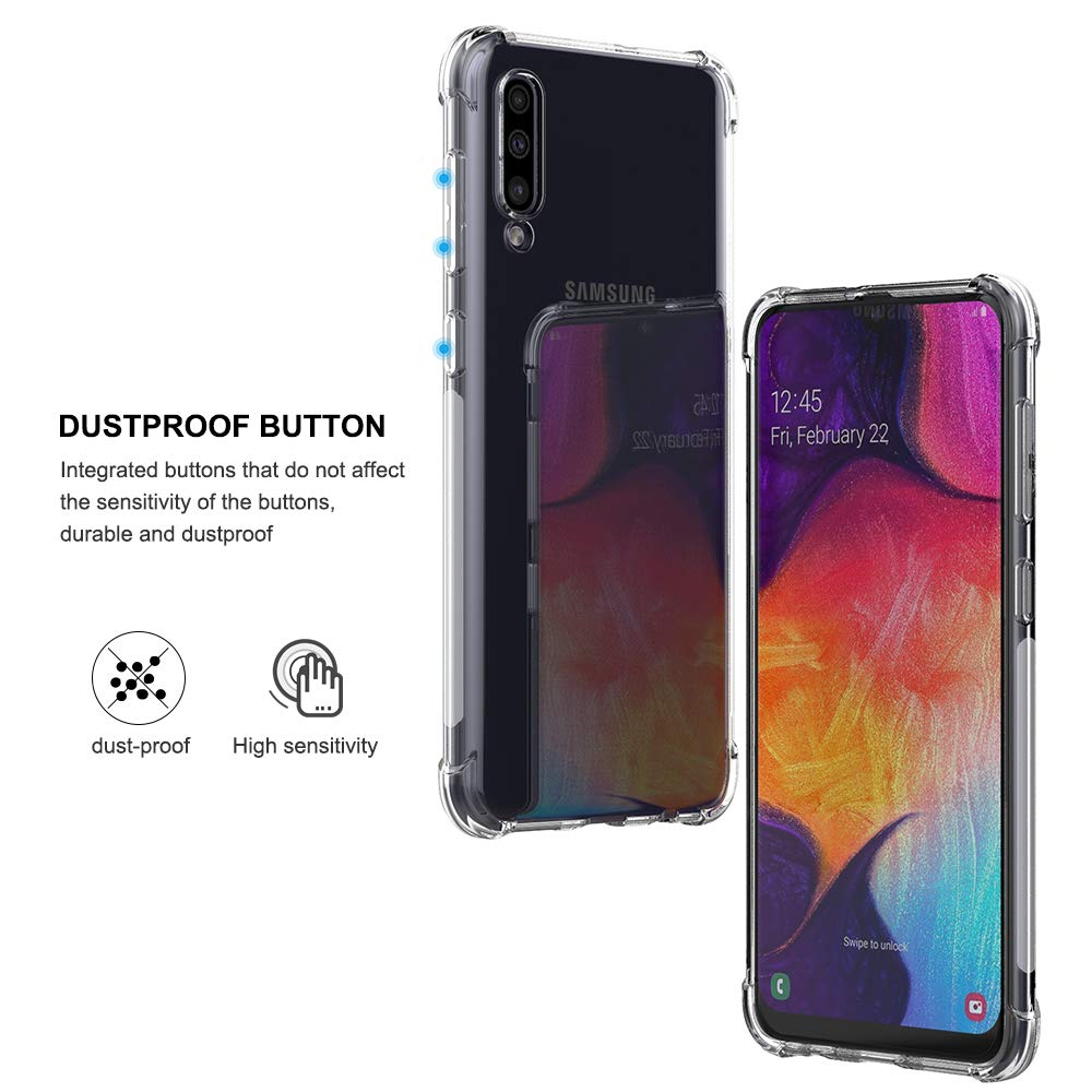 Bakeey Air Cushion Corner Transparent TPU Shockproof Protective Case for Samsung Galaxy A50 2019