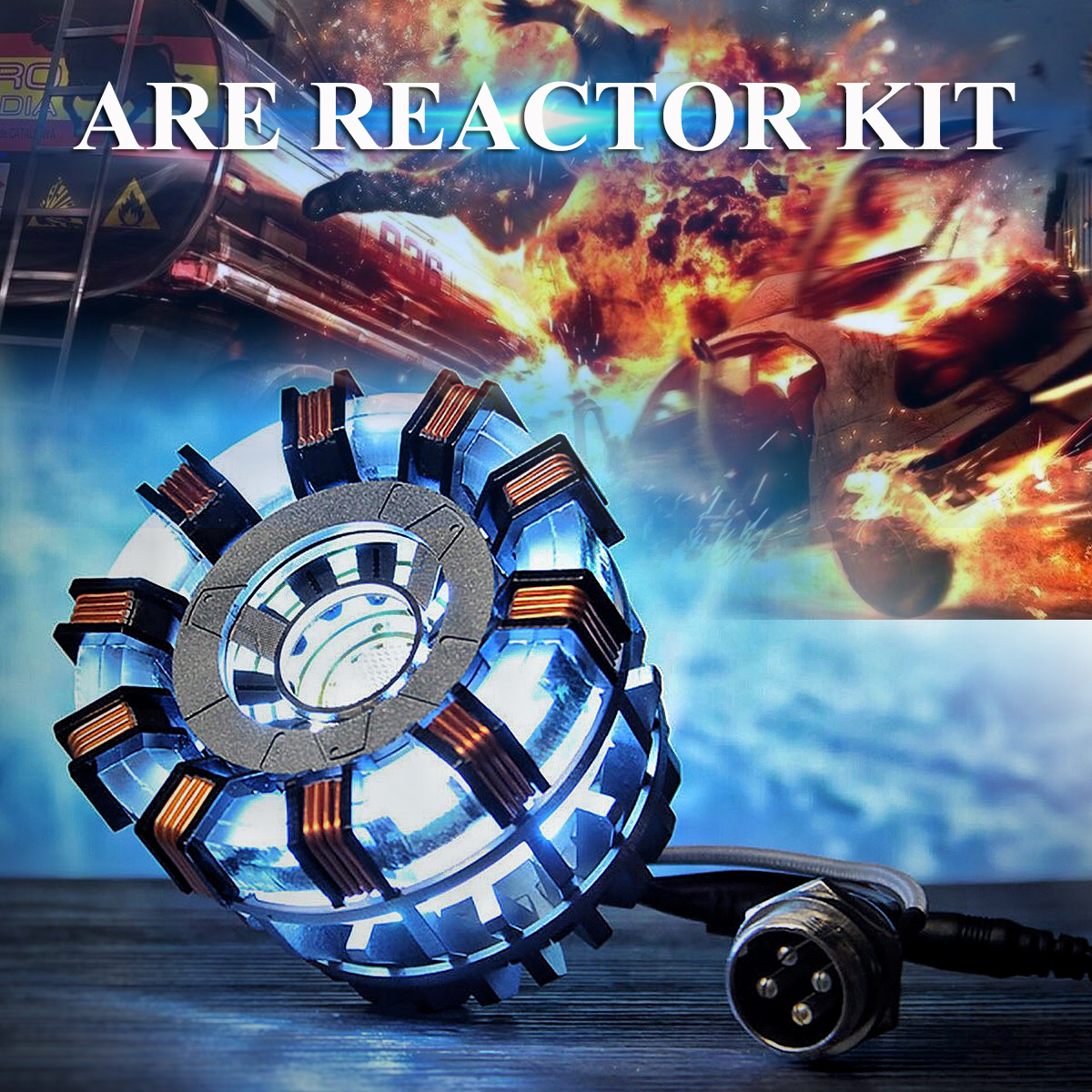 In Stock 1:1 Arc Reactor DIY Model MK2 Led Light Mark Chest Tony Heart Lamp Light DIY Model Science Toy