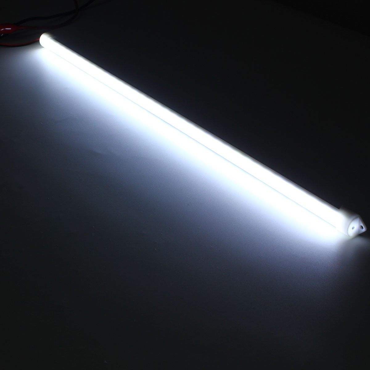 4 X 50CM Cool White 8520 SMD LED Rigid Strip Aluminum Case Cabinet Tube Light Lamp DC12V